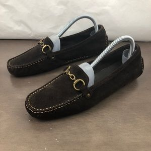 J. Crew Suede Horse Bit Driver Loafers